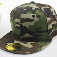 Snapback Baseball Plain Cap Funky Hip Hop SP Retro Classic Vintage Flat Hat LOT