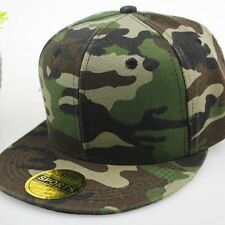 Snapback Baseball Plain Cap Funky Hip Hop SP Retro Classic Vintage Flat Hat Lot Army 5x