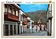 Spain Gran Canaria Teror Typical Balconys and Basilica of Our Lady del Pino