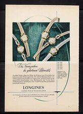 3w274/ Alte Reklame - von 1958 - LONGINES - Kennzeichen des gehobenen Stils
