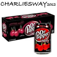 12 LATTINE DR PEPPER CHERRY DA 355 ML MADE IN USA ALLA CIGLIEGIA AMERICANA snack