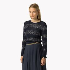 BNWT Tommy Hilfiger Gigi Hadid Mohair black sequin Knit Jumper Sweater RRP £190