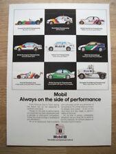 MOBIL 1 OIL FORMULA 1 TO TRUCK RACING  1990 12 X 8 magazine ORIGINAL CAR ADVERT