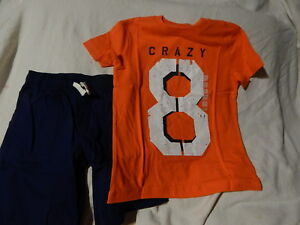 NWT 5 5T 6 5-6 CRAZY 8 by GYMBOREE TOP (5-6) & SHORTS (6)