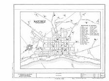 Natchez City Map,Natchez,Adams County,MS,Mississippi,HABS,Building Survey 5746