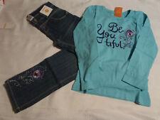 NWT GYMBOREE 2pc OUTFIT SUMMER Aqua Shirt// Top Floral ADJ Shorts 5 *38