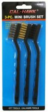 Mini Wire Brush Set 3-pc. With nylon, brass, and stainless steel bristles