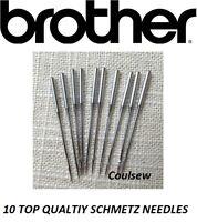 10 Overlocker Needles Schmetz Size 90/14 fits Brother M330 360 524D 530D 546D