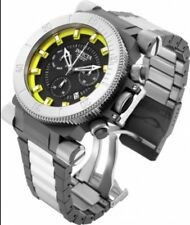 Invicta Coalition Force Military Style Chronograph Yellow Dial Gray/Silver Watch