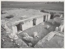 D6006 Costruzioni di tempio nel Foro di Minturno - Stampa d'epoca - 1933 print