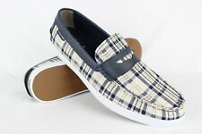 New Cole Haan Men's Nantucket Loafers Size 13m Plaid Navy C27450