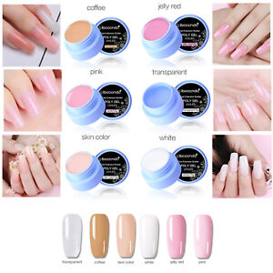 Nail Art Jelly Extend LED Gel Varnish Extension Builder Manicure Glue,6 Colors