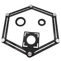 Regolabile Metallo Quattro Lati Multi-Angolo Compreso Modello Strumento Righello