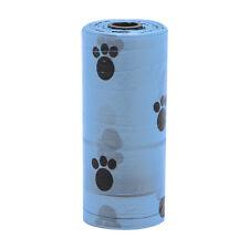 1Roll Pet Dog Waste Poop Bag Poo Printing Degradable Clean-up Blue