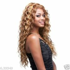 New Arrival Long Curly Hairstyle Mix Blonde Color Synthetic Hair Wigs For Women