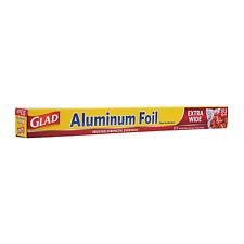 Glad Extra Wide Aluminum Foil   Tin Foil For Grilling, Roasting, Baking