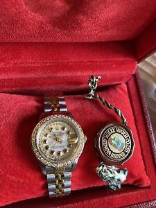 Rolex TT Datejust diamond ladies Watch genuine