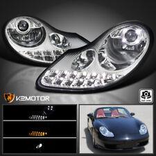 1997-2001 Porsche 996 911 97-2004 Boxster 986 LED+Signal Projector Headlights