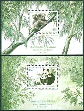 Koala and Panda minisheets. 1995 Joint Issue with China. Superb MNH  • FREE POST