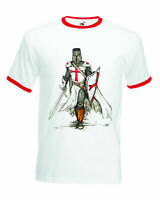 Crusader T-Shirt, Medieval Knight Christian RInger Unisex Adult Birthday Tee Top