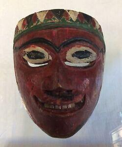Antica Maschera In Legno Bali Mask Wayang Topeng