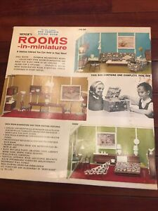 Vintage Mid Century Dollhouse Miniature Miner's Rooms-in-miniature DINING ROOM