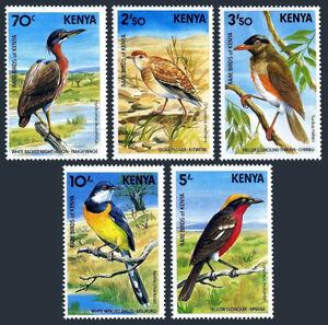 Kenya 288-292, MNH. Rare Local Birds, 1984
