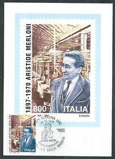 1997 ITALIA CARTOLINA POSTALE FDC MERLONI ANNULLO ALBACINA