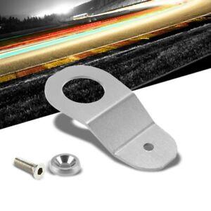 Silver Aluminum Radiator Stay Mount Bracket+Fender Washer For Honda 96-00 Civic