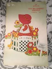 VTG Vintage Birthday Hallmark  Little Miss Sunbonnet Centerpiece Ultra Rare #383