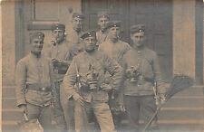 Deutsche Soldaten mit Gasmaske, Bajonett Foto 1. WK