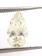 SOLITAIRE LOOSE NATURAL DIAMOND TCW 0.75 M VS1 Pear GIA bridal engagement birth