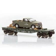 O GAUGE TRAIN FLATCAR WITH MILITARY ARMY TRUCK AND SHELLS