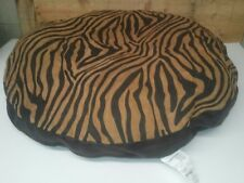 """Ashford Court Leather Patch 36"""" round Dog Bed Cover Only Zebra Print"""