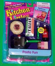 Barbie Kitchen Littles PASTA FUN Spaghetti French Bread Metal Pot Ice Cream Food
