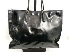 Talbots Patent Leather Shoulder Bag Handbag Tote Bag Large