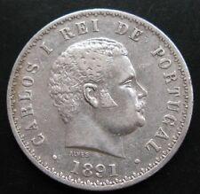 PORTUGAL , 500 REIS DE 1891 . PLATA