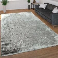 Traditional Rug Grey Oriental Shabby Chic Pattern Mat Small Large Bedroom Carpet