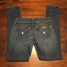 Hudson Women's Collin Flap Skinny Jeans 28x32 Dark Wash Distressed Destroyed