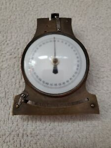 Vintage Antique Brass Watchmakers Mainspring Dial Measurement Gauge, Working