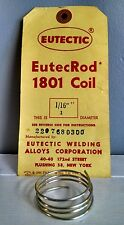 "Silver Brazing Wire Solder 51% 1/16"" ONE QUARTER Troy Oz Eutectic Eutec Rod 1801"