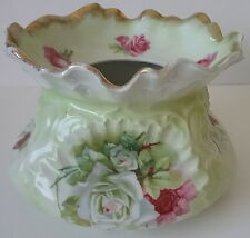 Carl Tielsch C.T. Porcelain Rose Floral Spittoon Cuspidor Altwasser Germany 1900