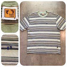 Original Vtg 70s 80s HANG TEN Striped Shirt Hawaii Skate Surfer Surf Beach M