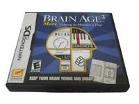 Brain Age 2 Nintendo DS 2DS 3DS Game *Complete*