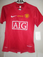 Ronaldo CL Final Signed Manchester United Home Football Shirt with COA /21882
