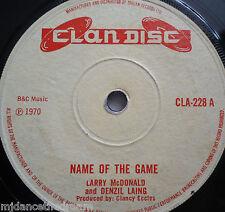 "LARRY McDONALD & DENZIL LAING - Name Of The Game - 7"" Single"
