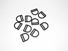 "1"" Black Nylon D Ring Plastic Tactical Pack Clip Collar Sport Belt, QTY 10"