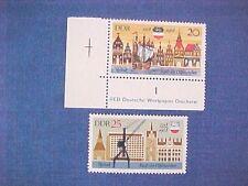 DDR Mi-Nr 1384-1385 Ostseewochen 1968 postfrisch 1x Eck