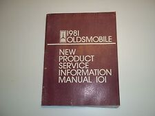 Handbuch Manual 101 New Product Information Oldsmobil  Ausgabe1981 original