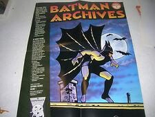 ORIGINAL BATMAN ARCHIVES DARK KNIGHT DETECTIVE COMICS 22/17 POSTER: BOB KANE ART